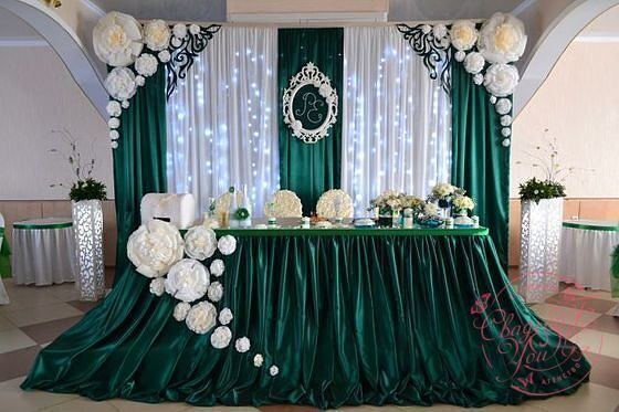 Оформление залов на свадьбу недорого